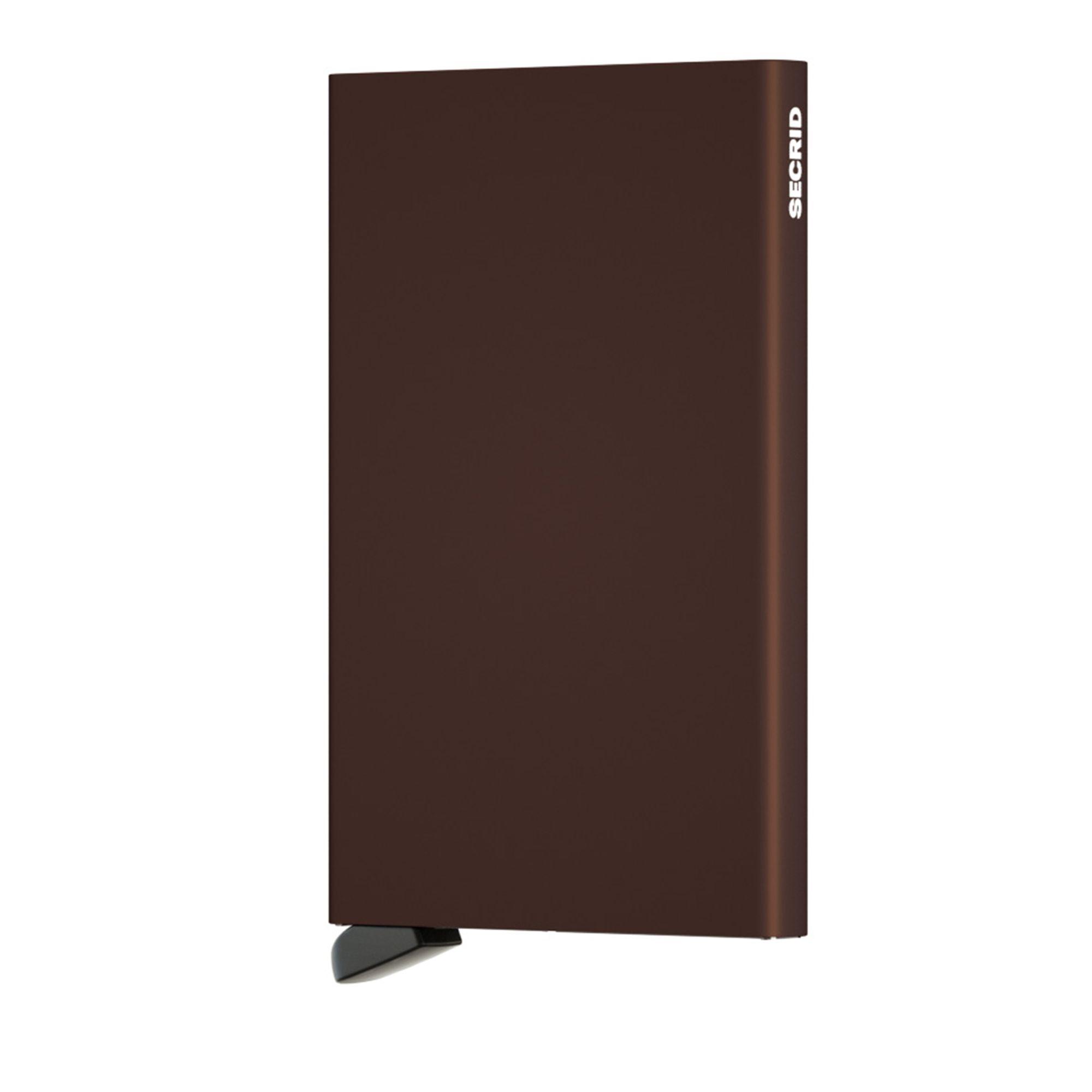 Secrid Cardprotector korthållare i metall, 6 kortfack, Brun