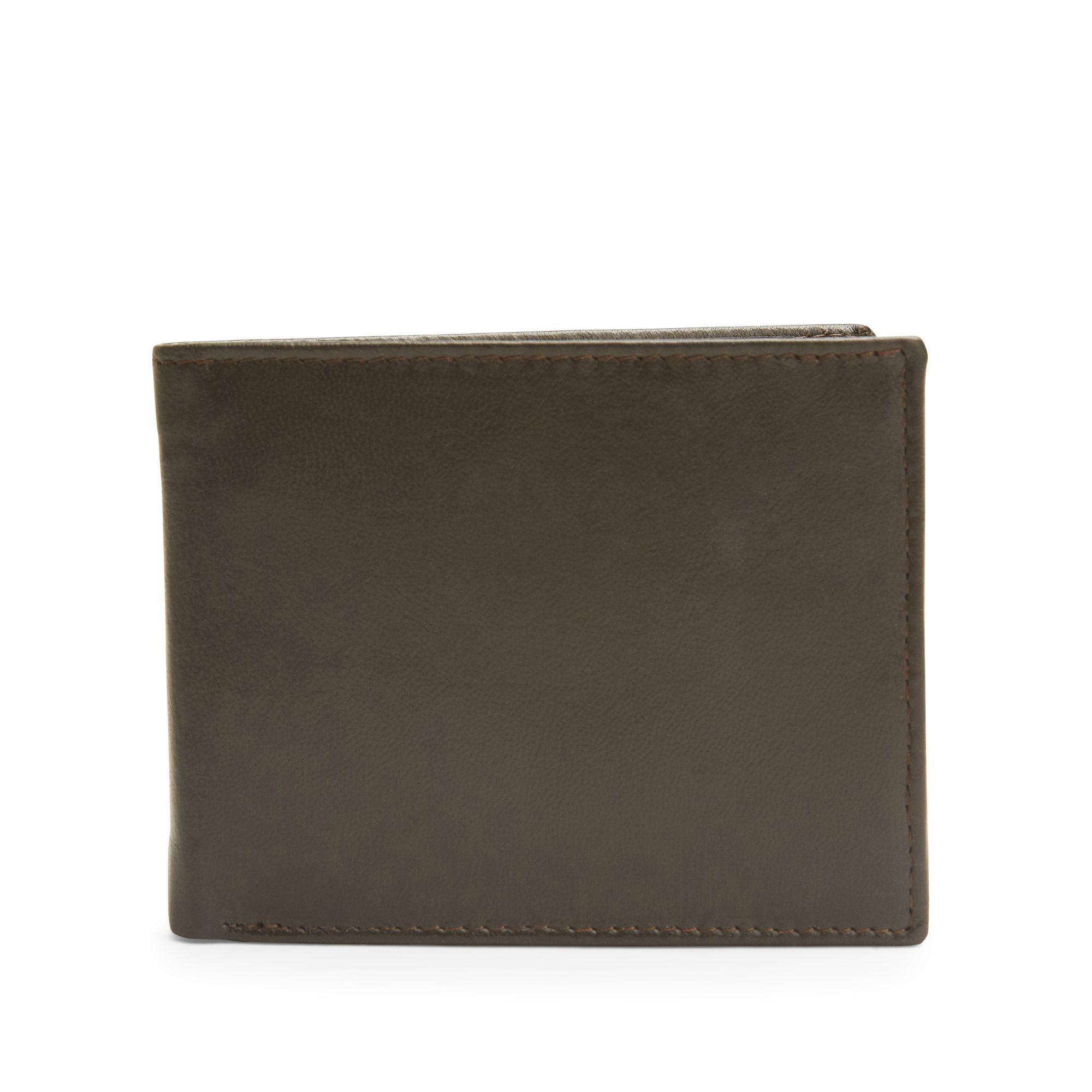 Rizzo Brando liten plånbok i skinn, Brun