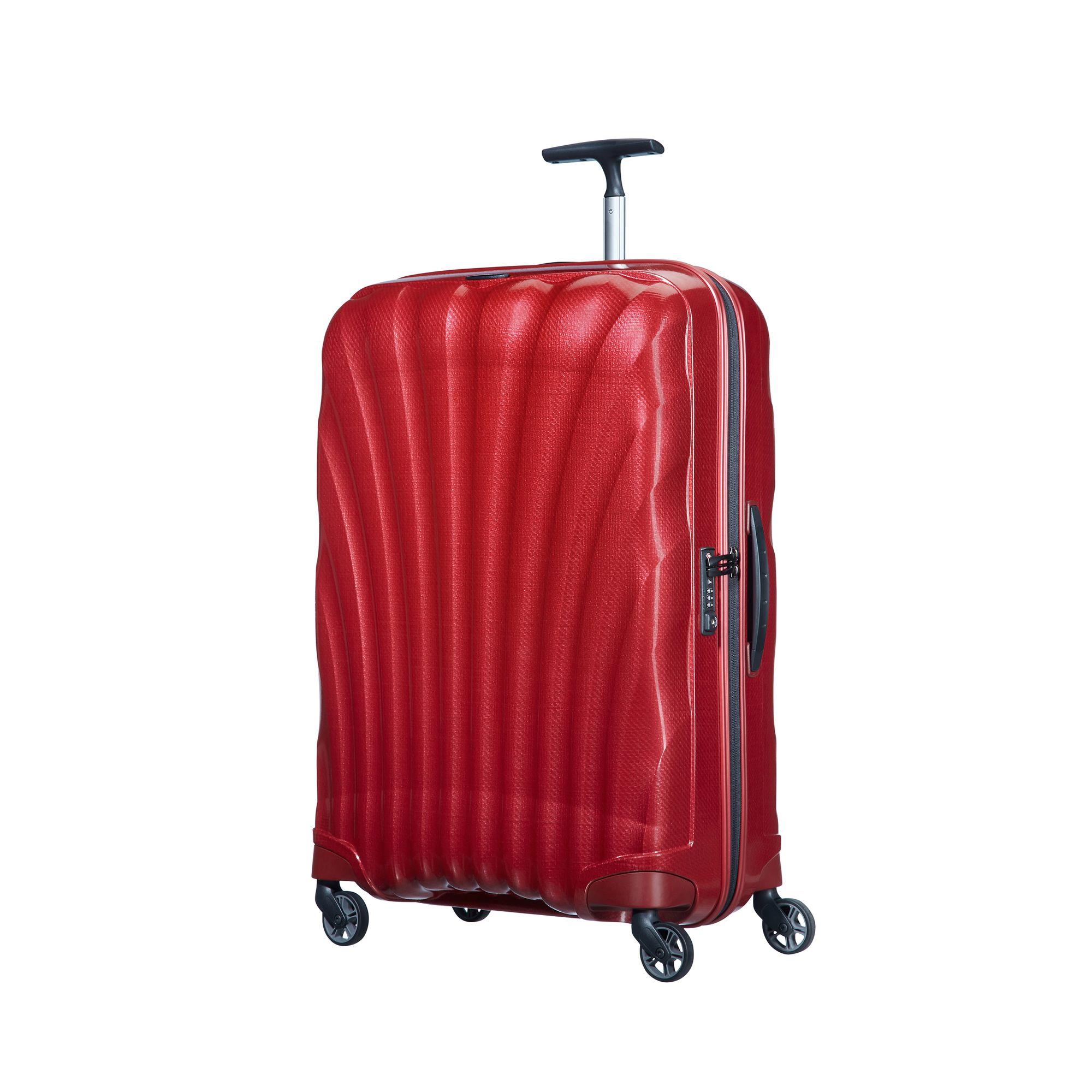 Samsonite Cosmolite hård resväska, 4 hjul, 69 cm, Röd