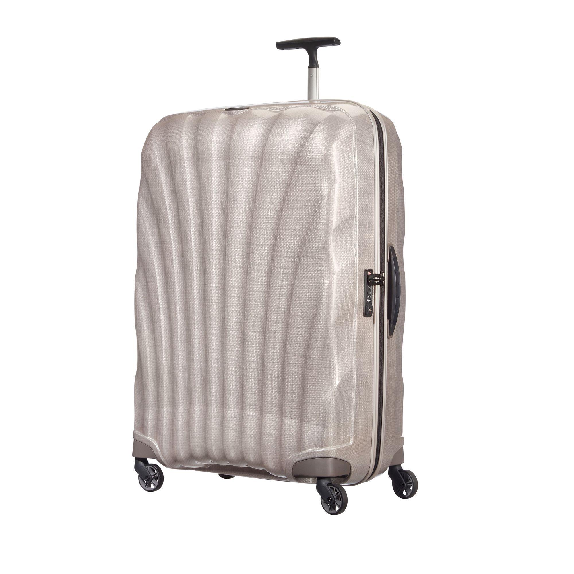 Samsonite Cosmolite hård resväska, 4 hjul, 81 cm, Pärlvit