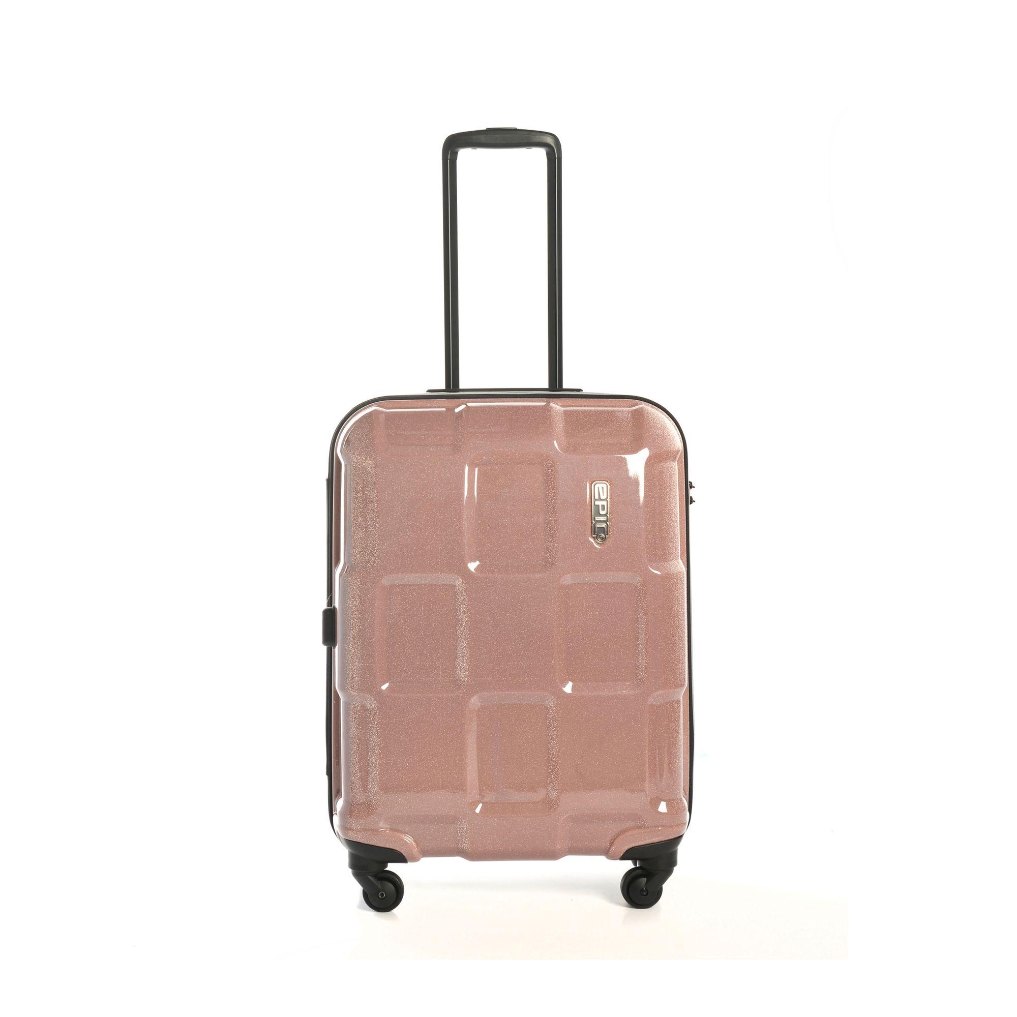 EPIC Crate Reflex hård resväska, 4 hjul, 55/66/76 cm, Rosa, 55cm