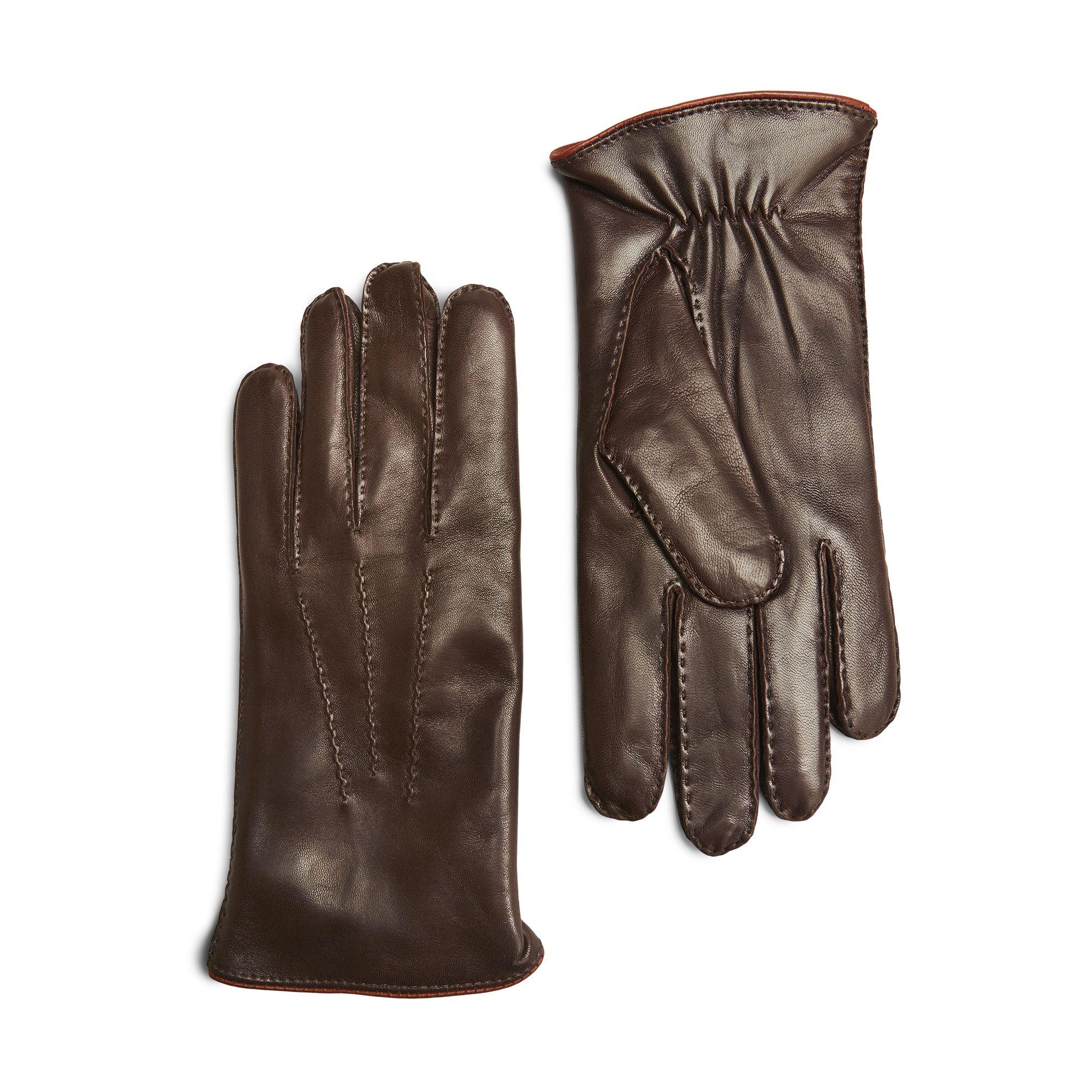 Handskmakaren Chioggia skinnhandske, herr, Brun, 10