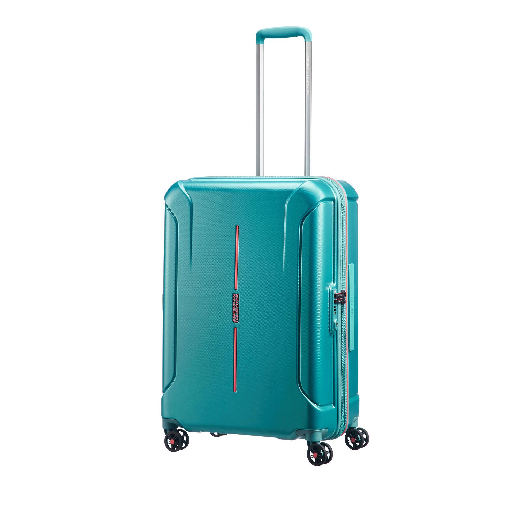 American Tourister Technum hård resväska, 4 hjul, 66 cm, Grön