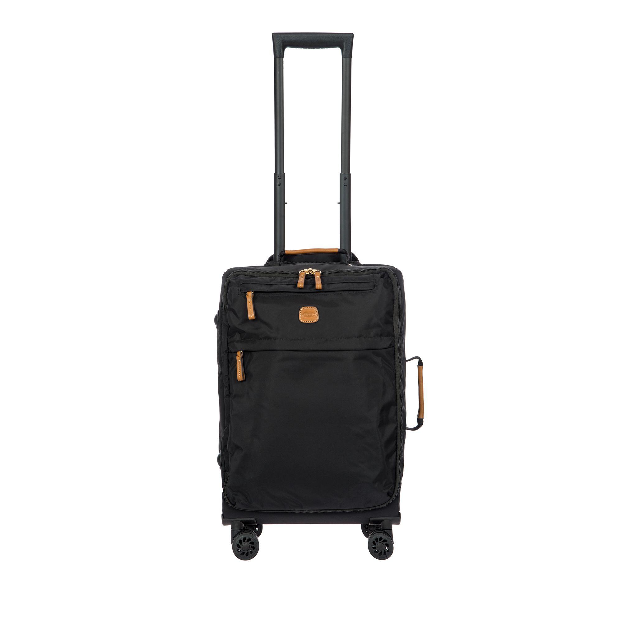 BRIC'S X-Travel mjuk kabinväska i nylon, 4 hjul, 55 cm, Svart