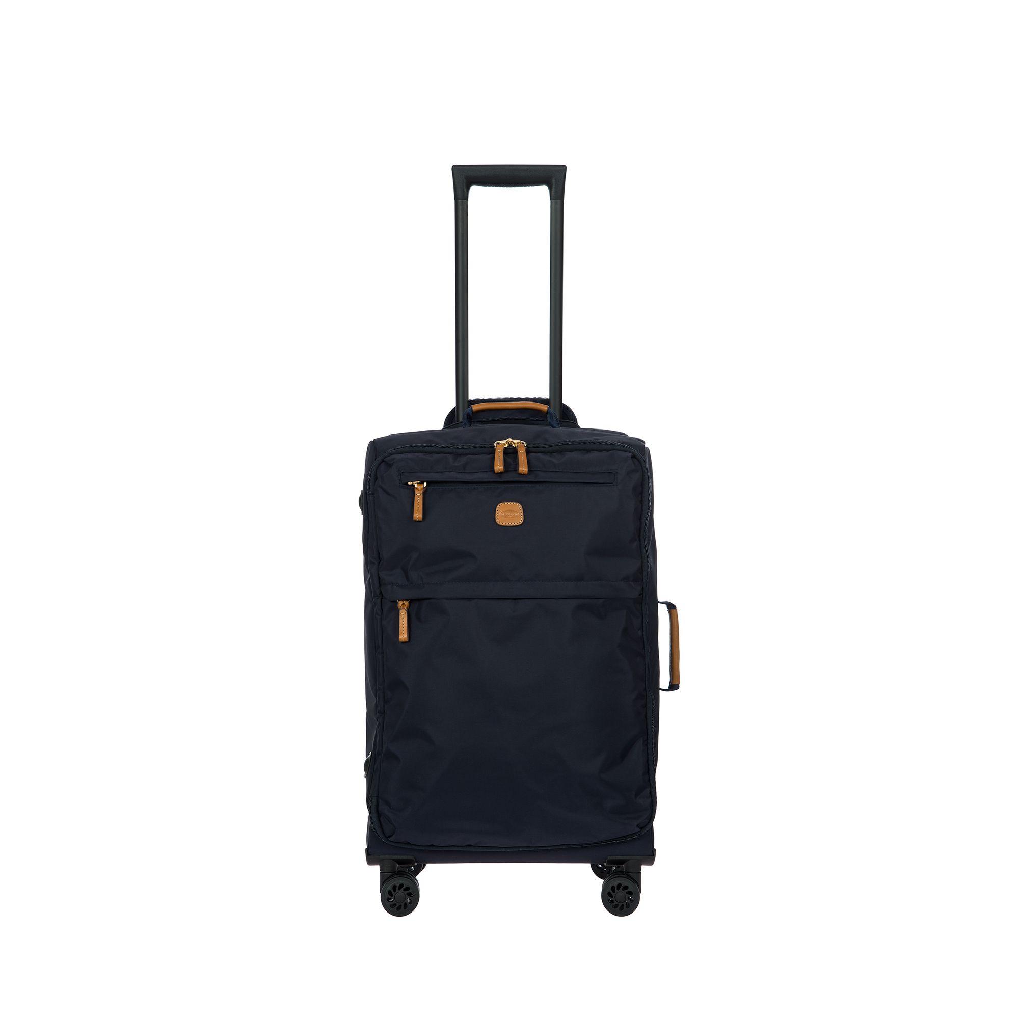 BRIC'S X-Travel mjuk kabinväska i nylon, 4 hjul, 55 cm, Mörkblå