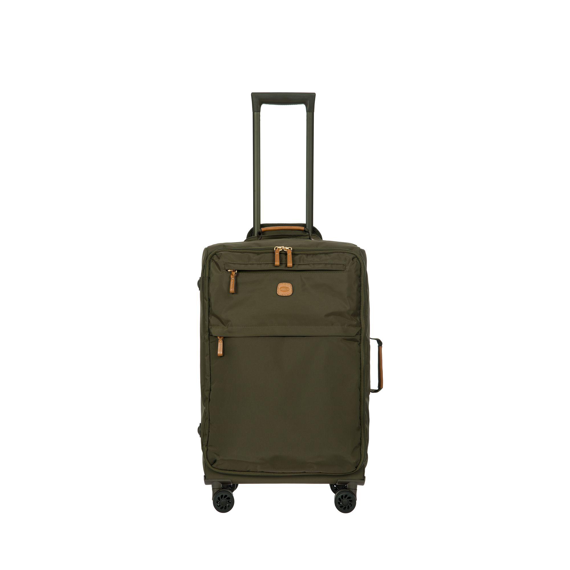 BRIC'S X-Travel mjuk kabinväska i nylon, 4 hjul, 55 cm, Grön