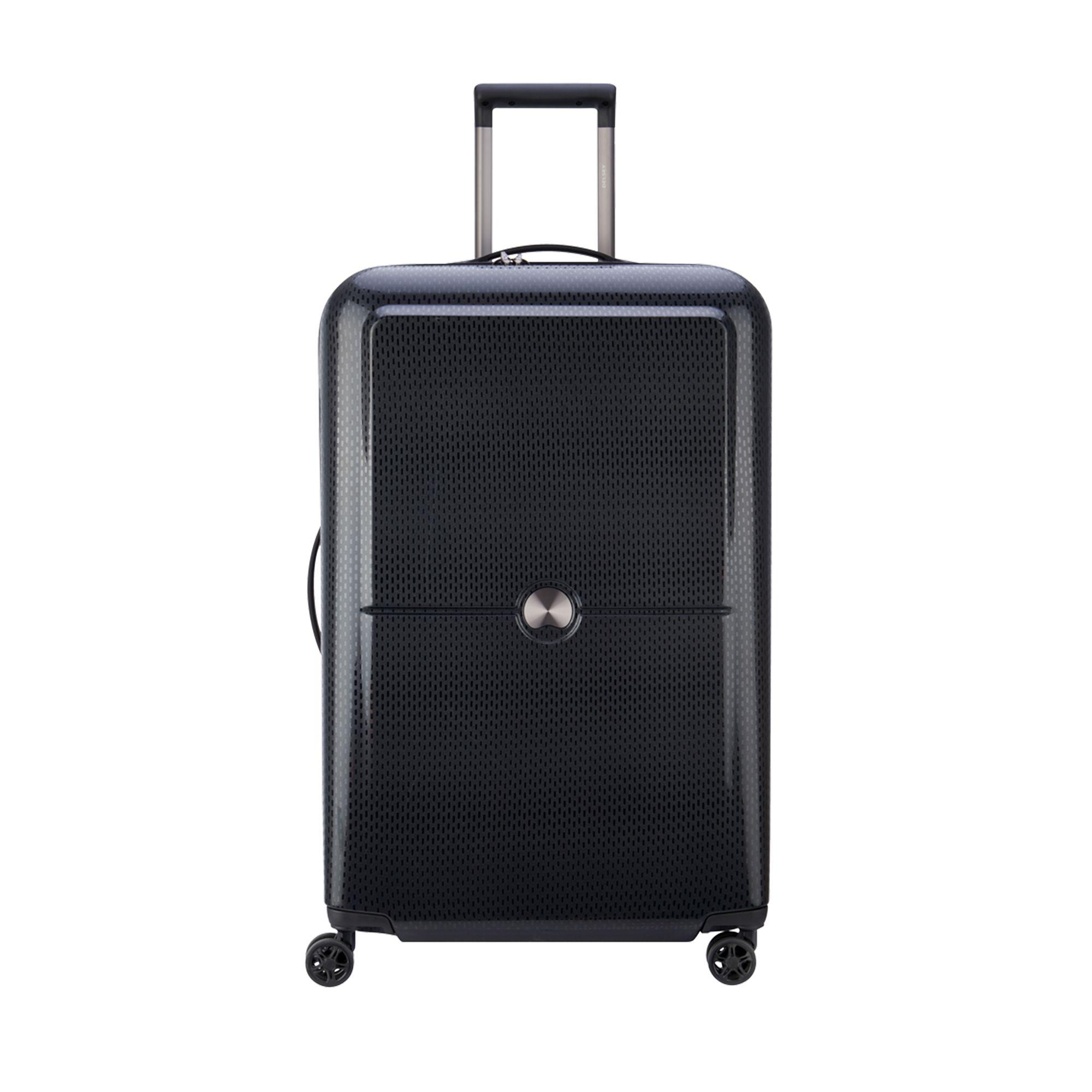 Delsey Turenne hård resväska, 4 hjul, 75 cm, Svart