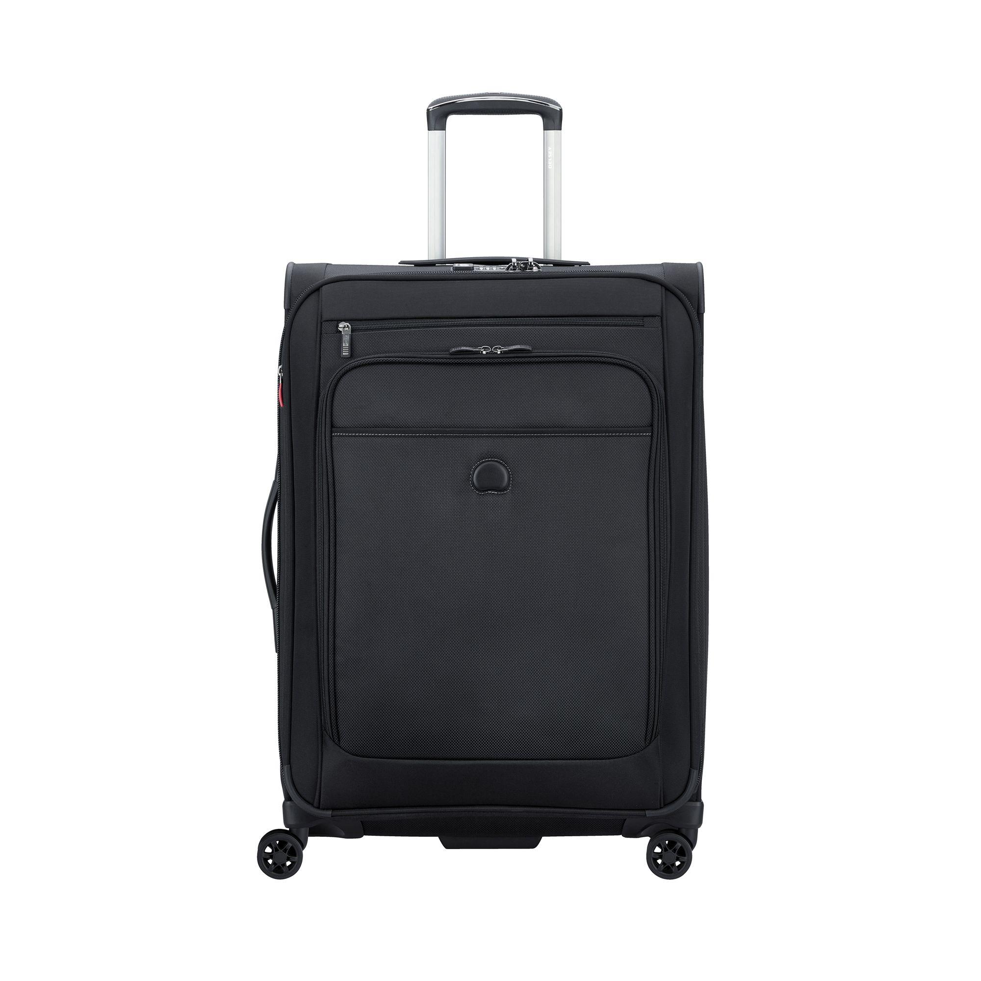 Delsey Pilot exapanderbar resväska, 4 hjul, 68 cm, Svart