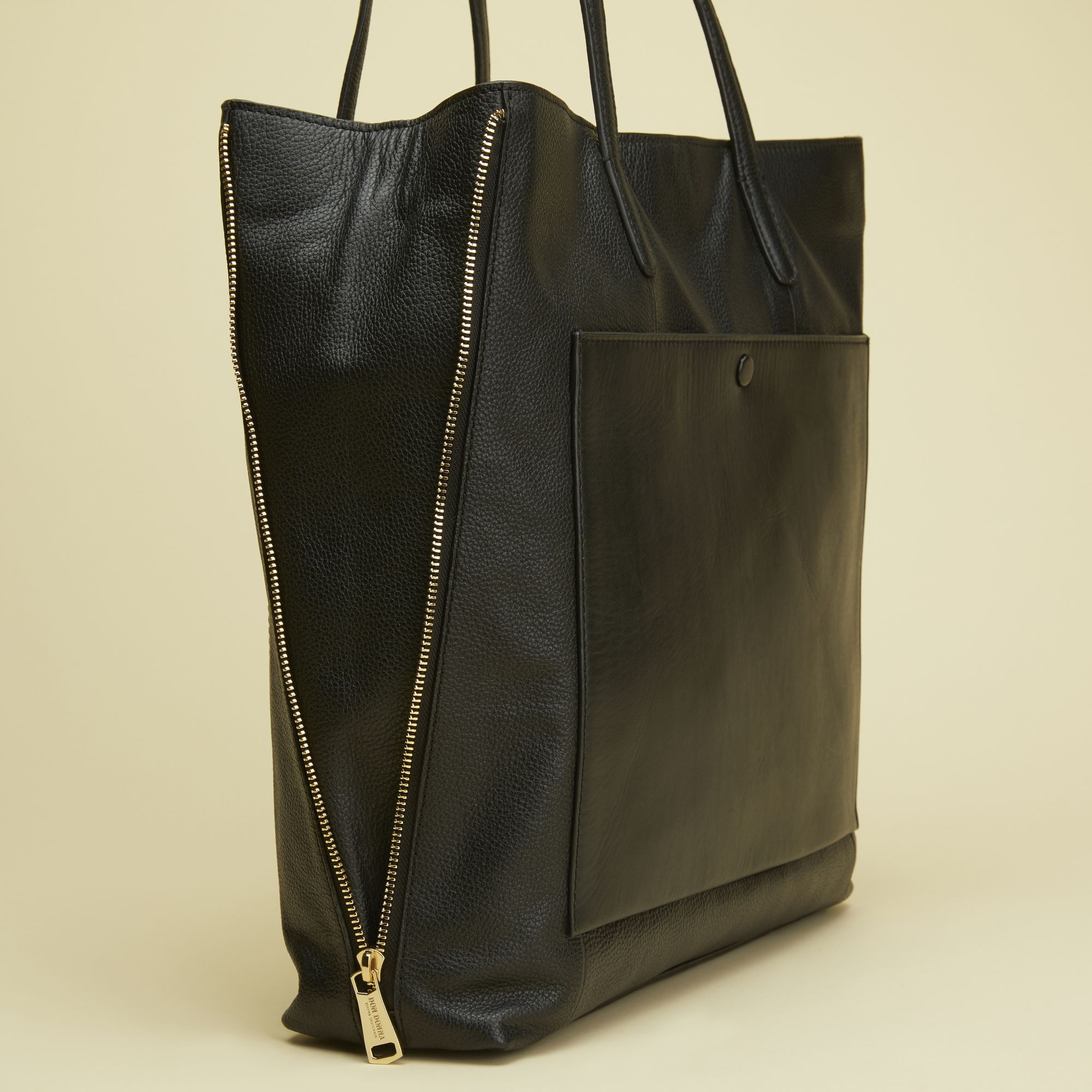 shopper väska skinn