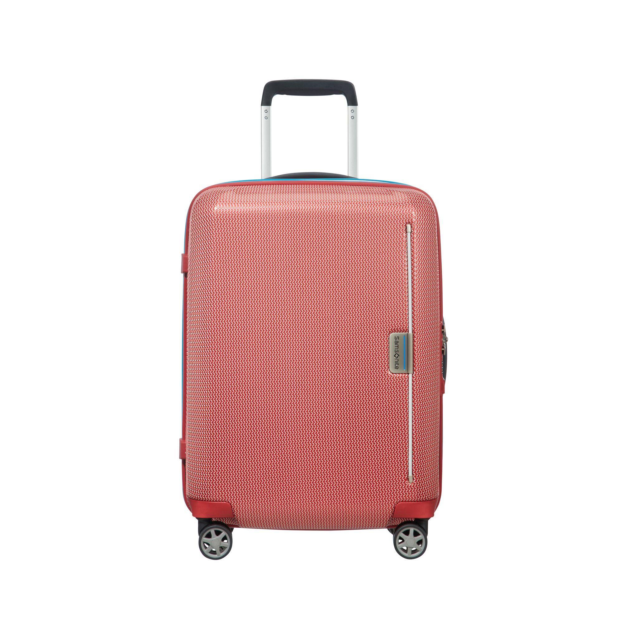 Samsonite Mixmesh, hård kabinväska, 4 hjul, 55cm, Röd