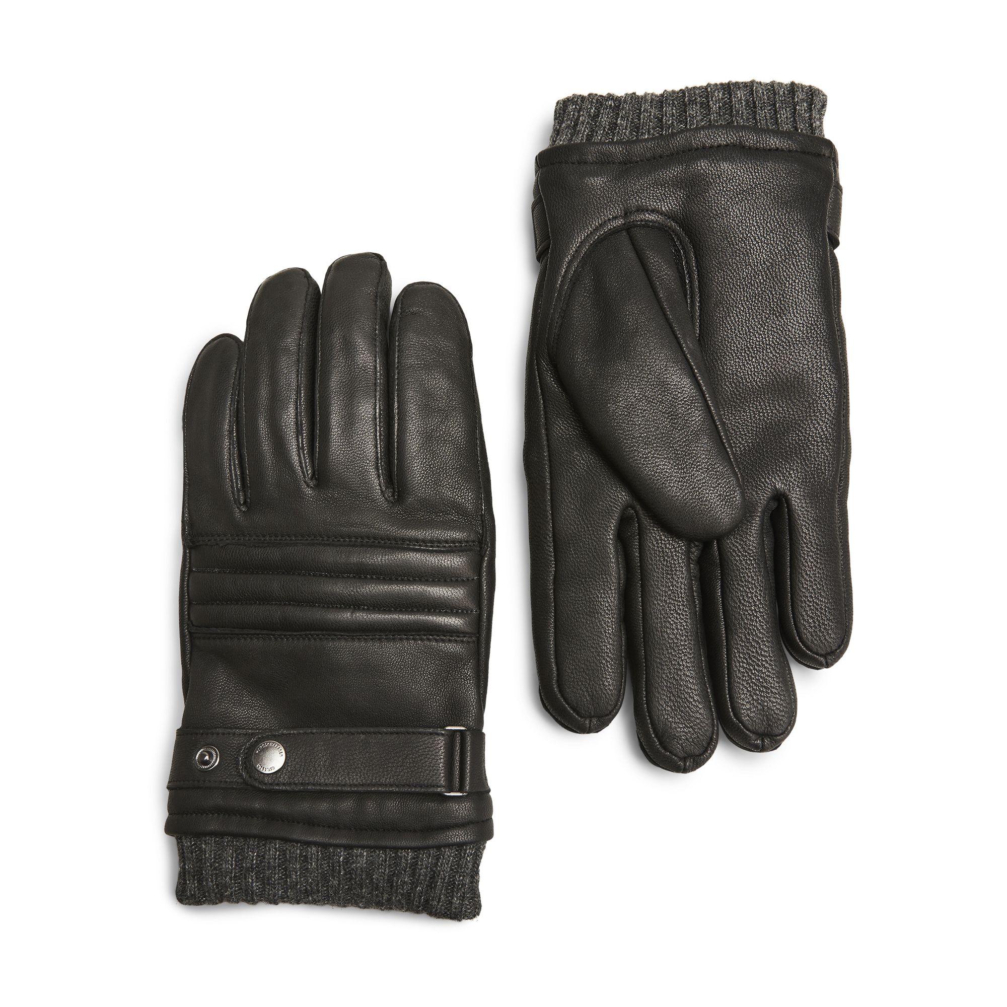 Handskmakaren Viareggio handskar i skinn, herr, Svart, 10