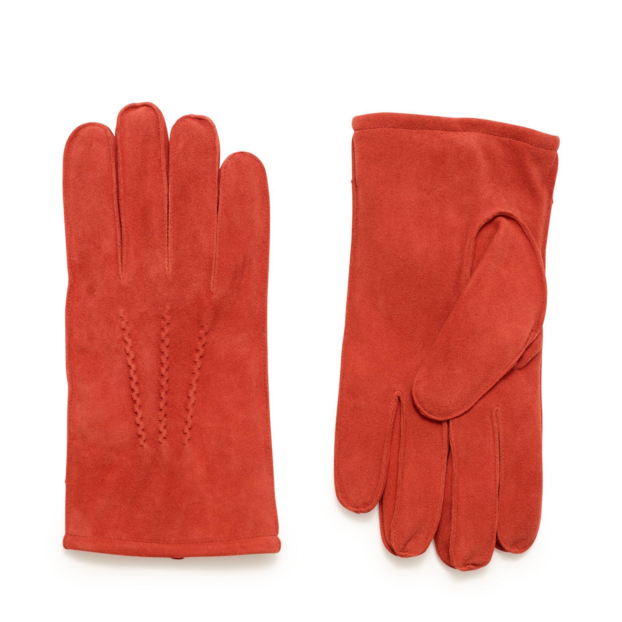 Handskmakaren Bisceglie handskar i mocka, herr, Orange, 9,5