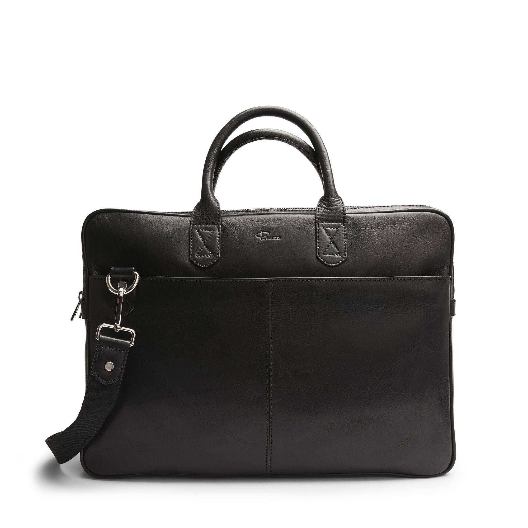 DD Mark Wide Briefcase, portfölj i skinn, Svart