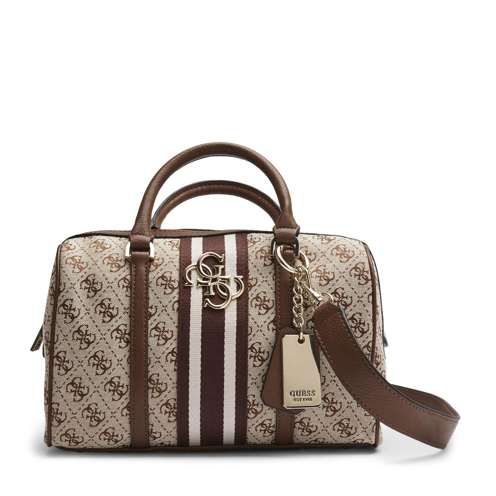 Guess Vintage Box Satchel handväska, Brun