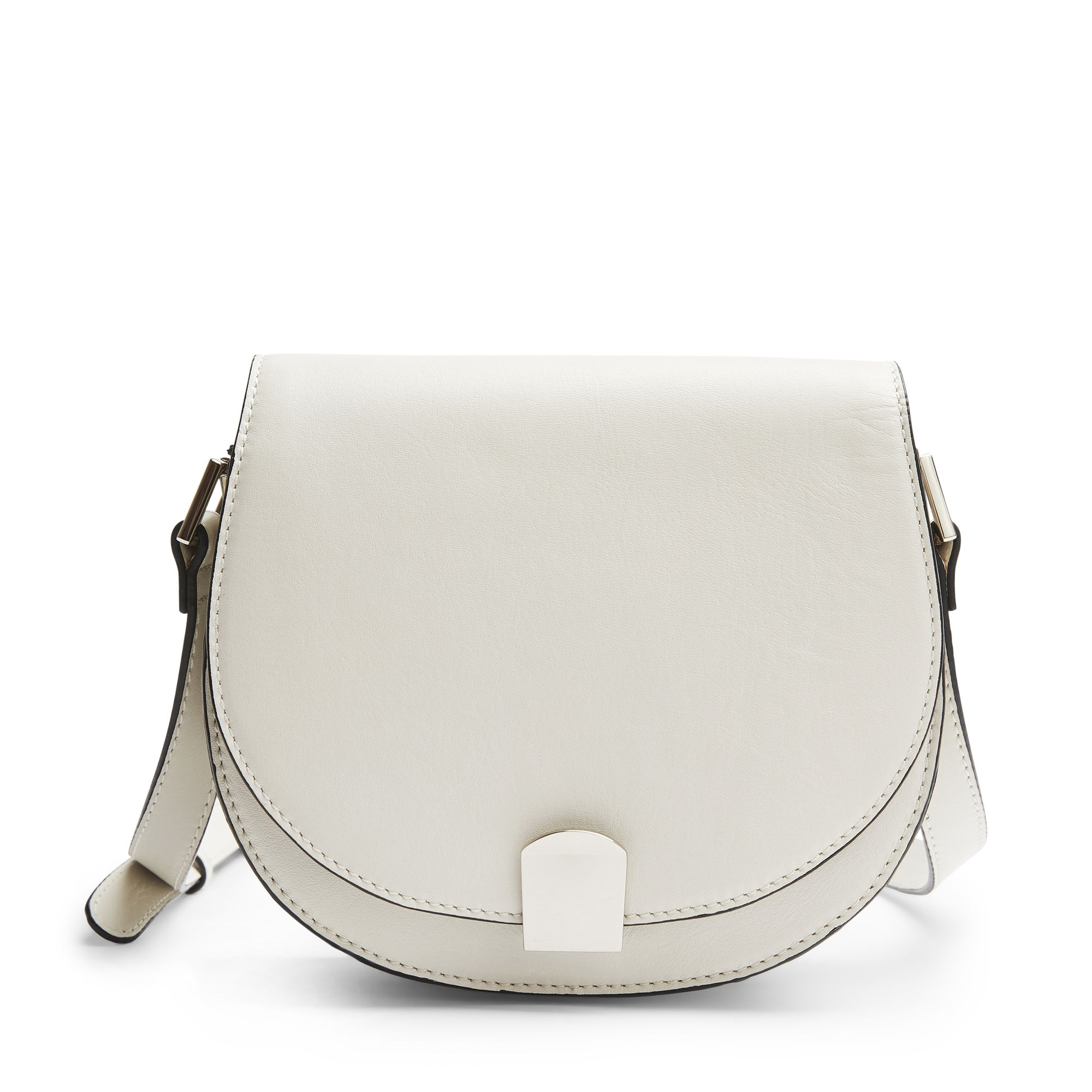 Rizzo Sandra Saddle Crossbody axelremsväska, Off White