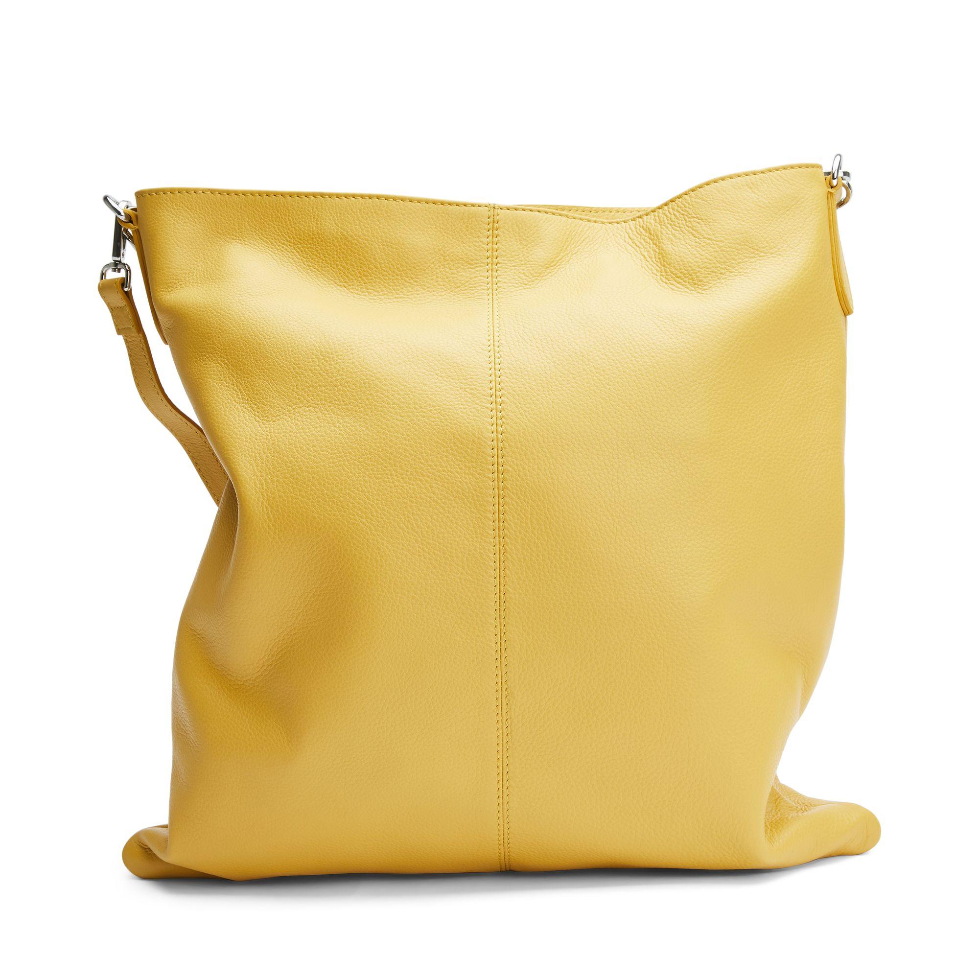 Rizzo Madonna Hobo handväska i skinn, Gul