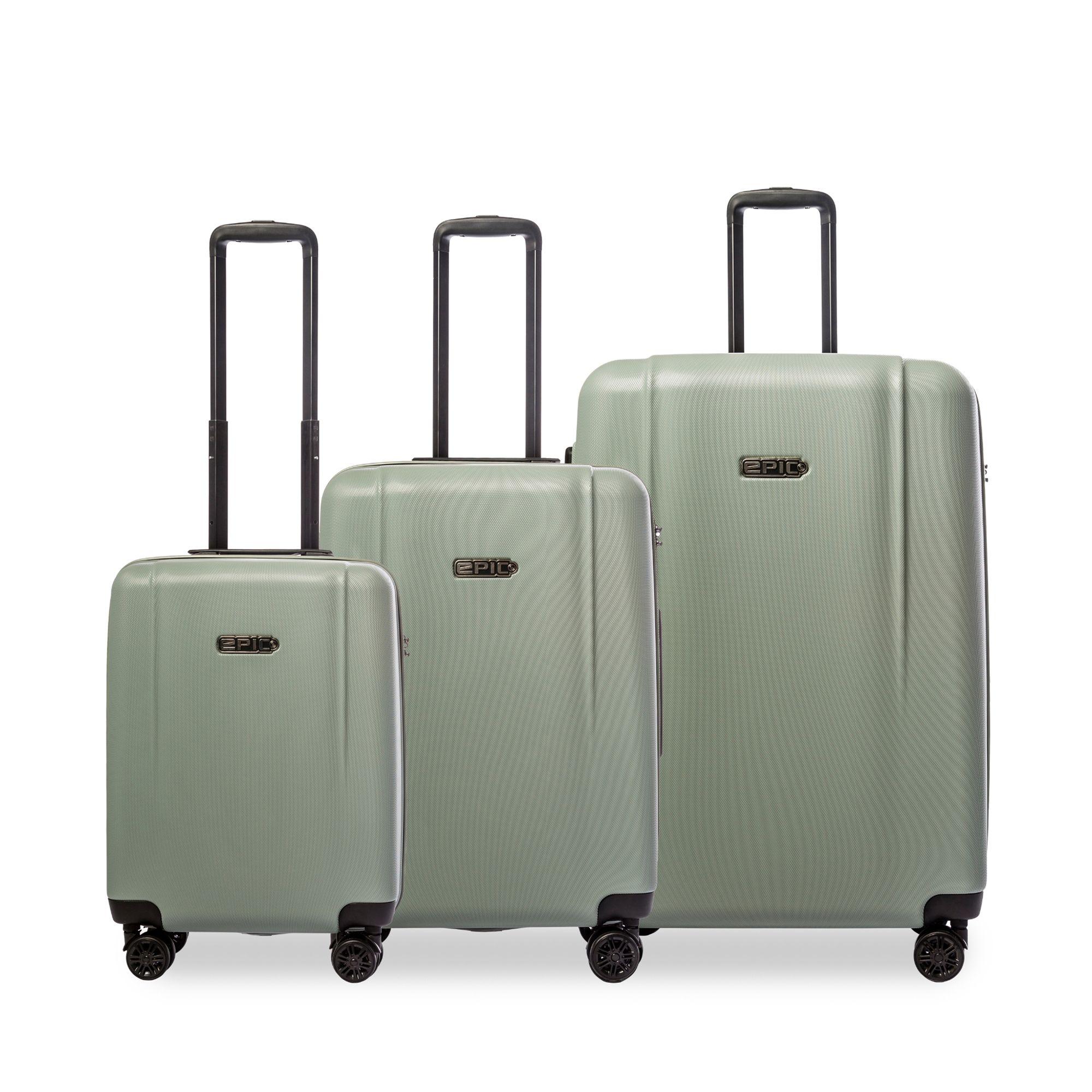 Epic Pop Neo 3-set hårda resväskor, 4 hjul, 55/65/75 cm, Grön