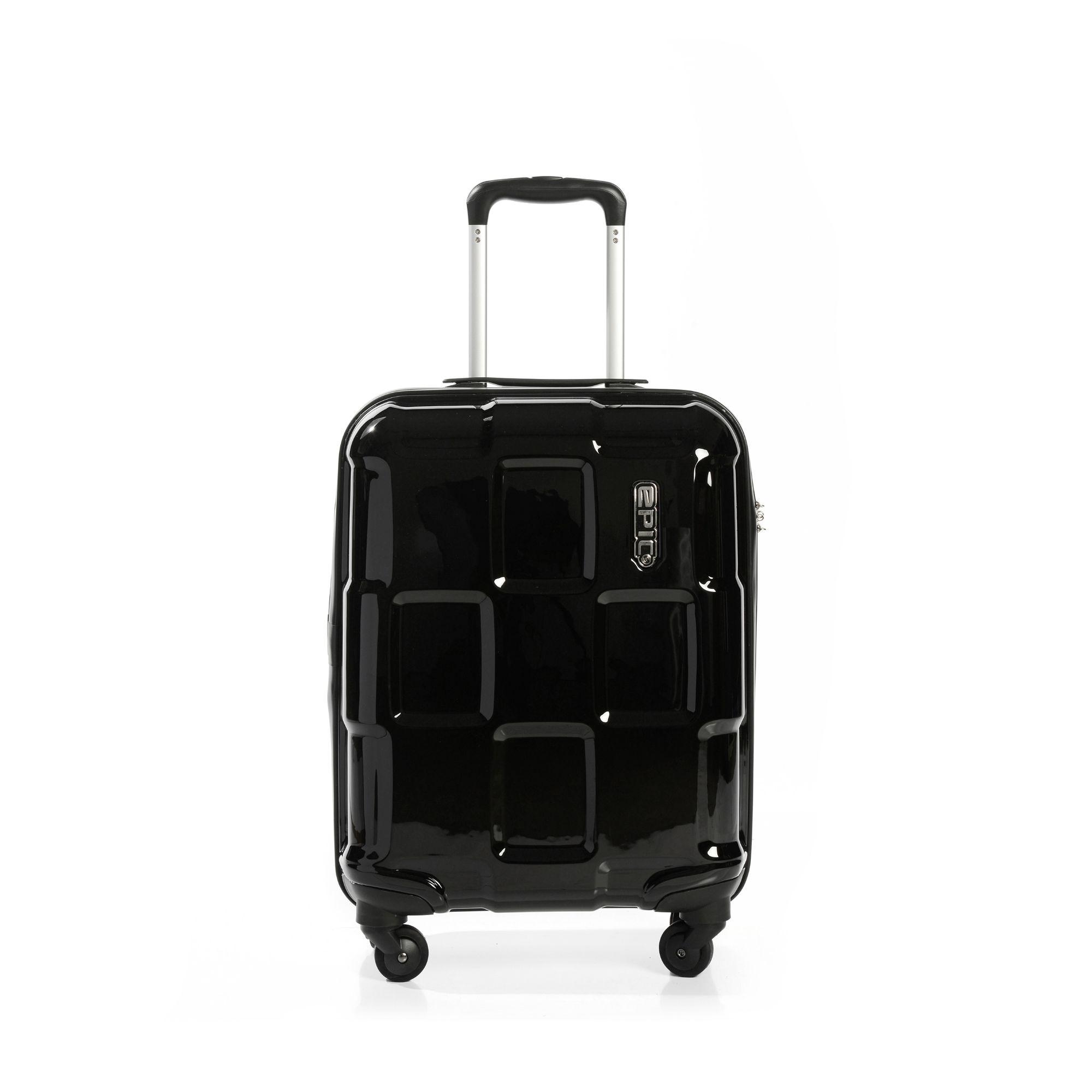 EPIC Crate EX Solids hård kabinväska, 4 hjul, 55 cm, Svart