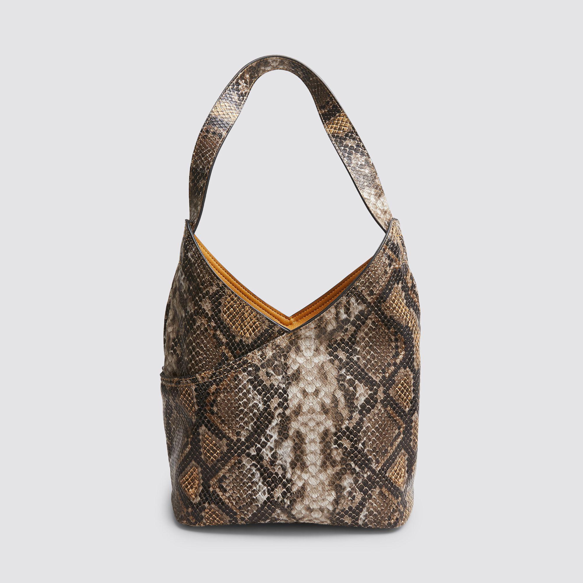 Don Donna Jewel Small Hobo handväska, Gul med mönster
