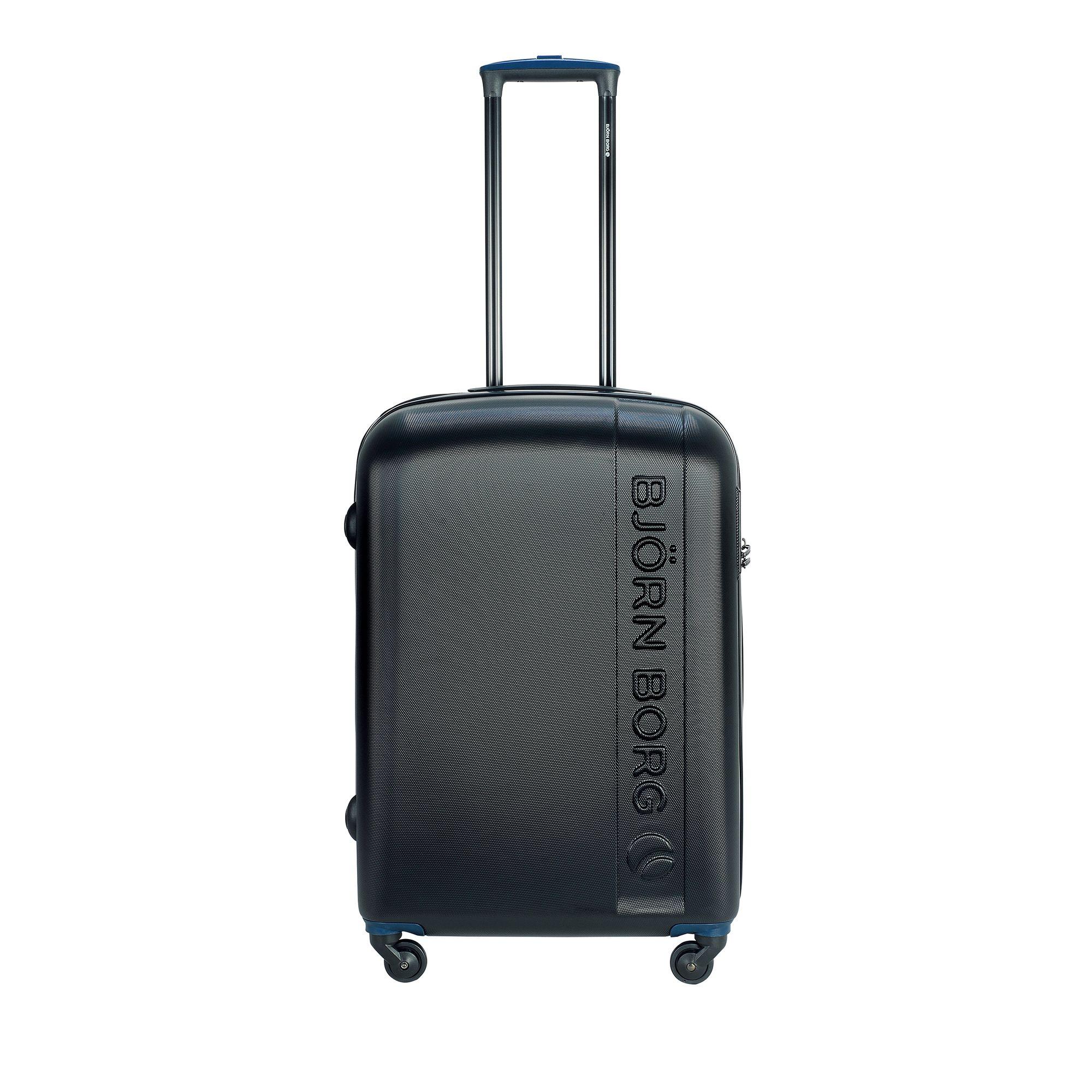 Björn Borg Hot Solid resväska med 4 hjul, 55/65/78 cm, Svart, 67cm
