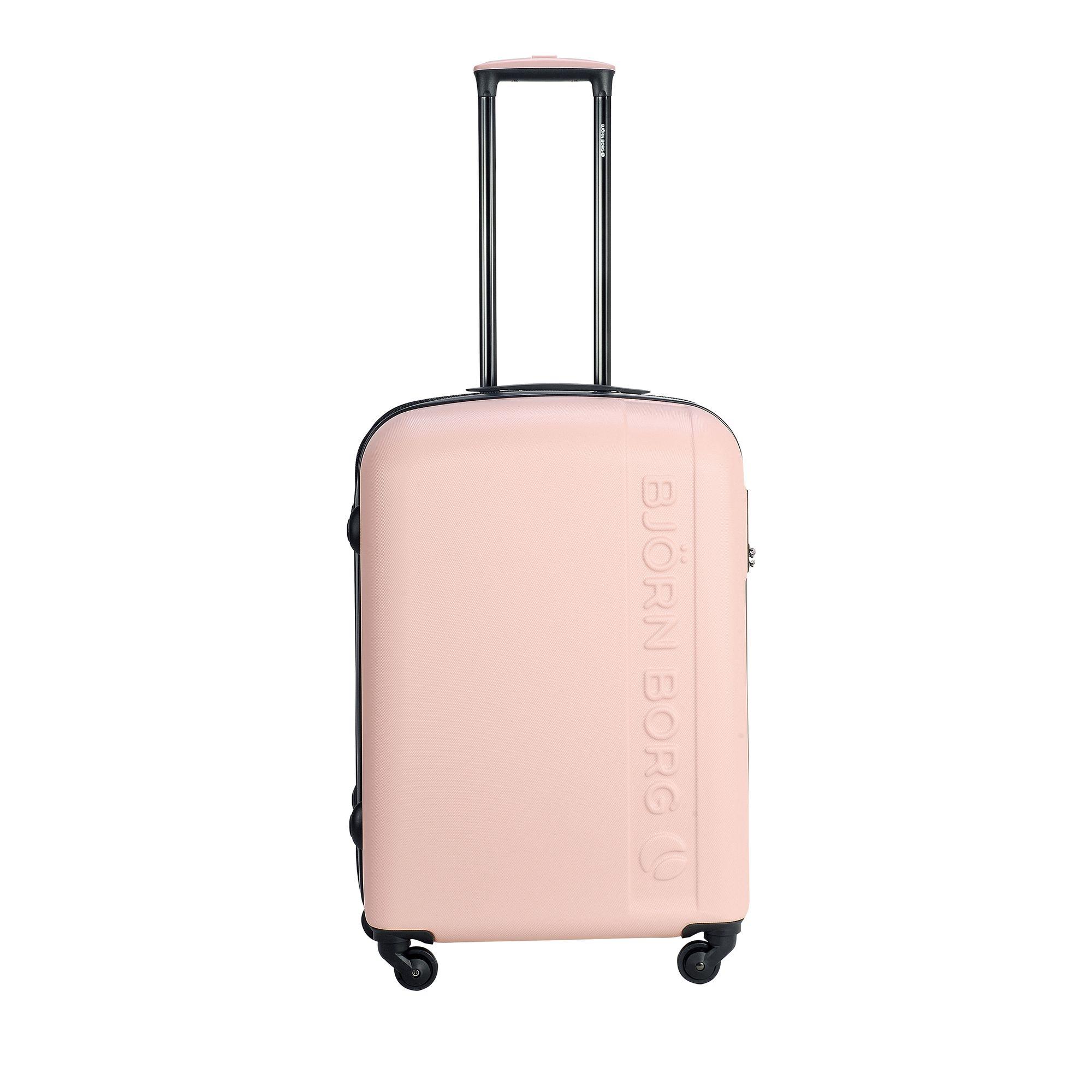 Björn Borg Hot Solid resväska med 4 hjul, 55/65/78 cm, Rosa, 67cm