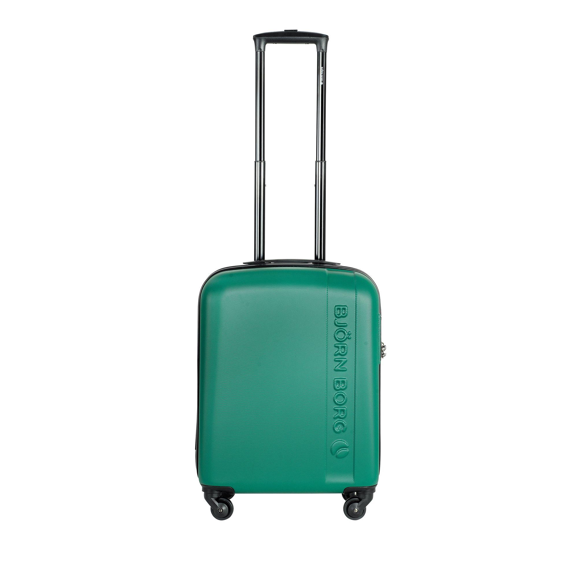 Björn Borg Hot Solid resväska, 4 hjul, 55/65/78 cm, Grön, 55cm