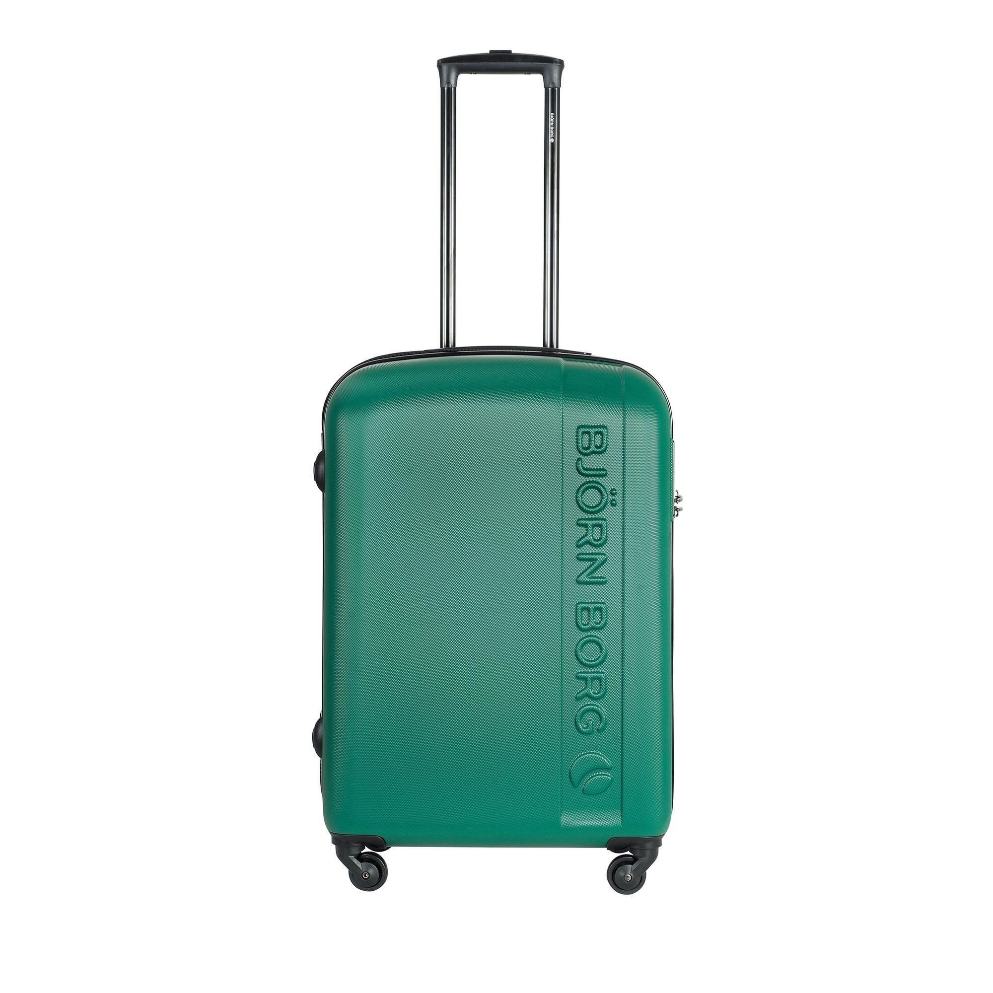 Björn Borg Hot Solid resväska, 4 hjul, 55/65/78 cm, Grön, 67cm