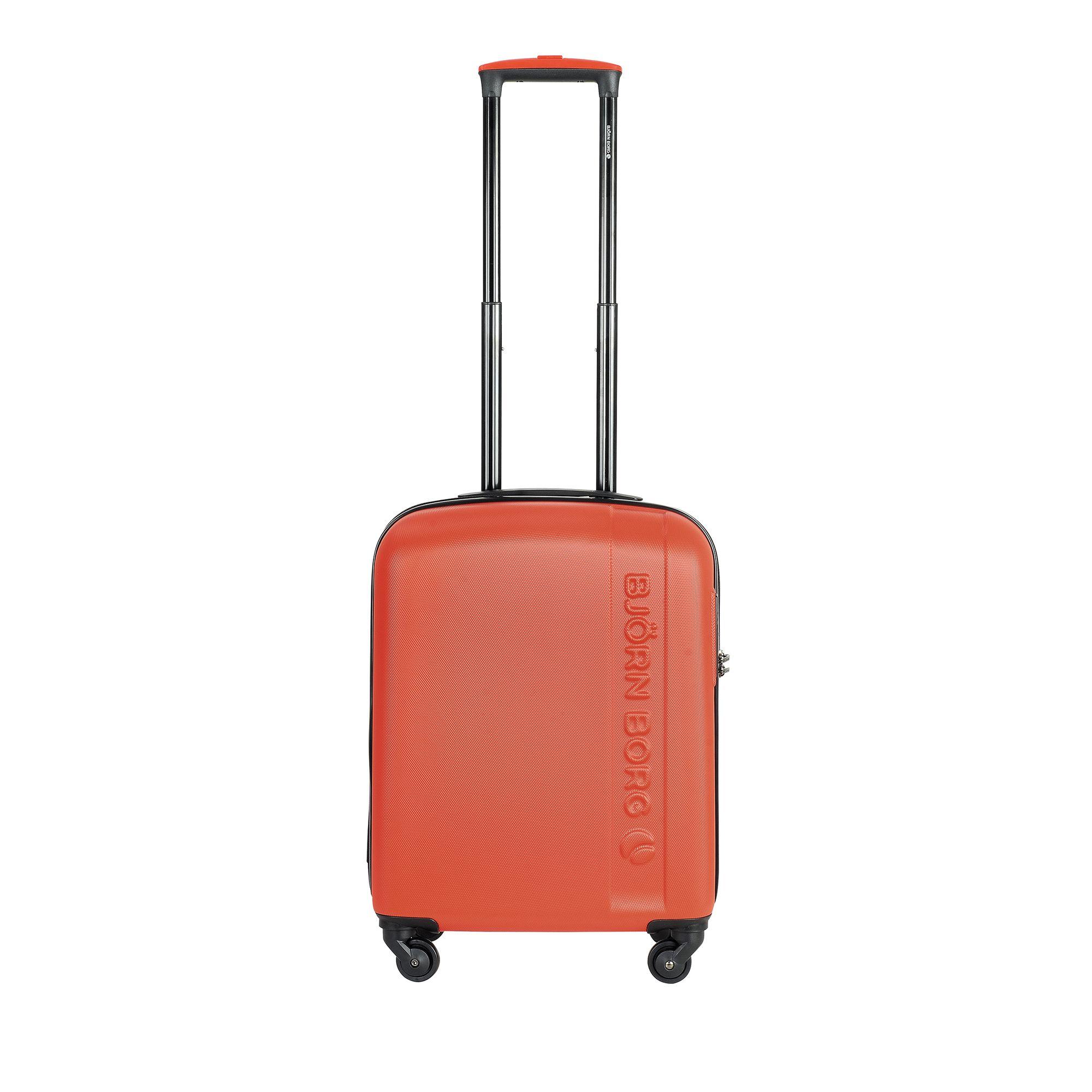 Björn Borg Hot Solid resväska, 4 hjul, 55/65/78 cm, Orange, 55cm