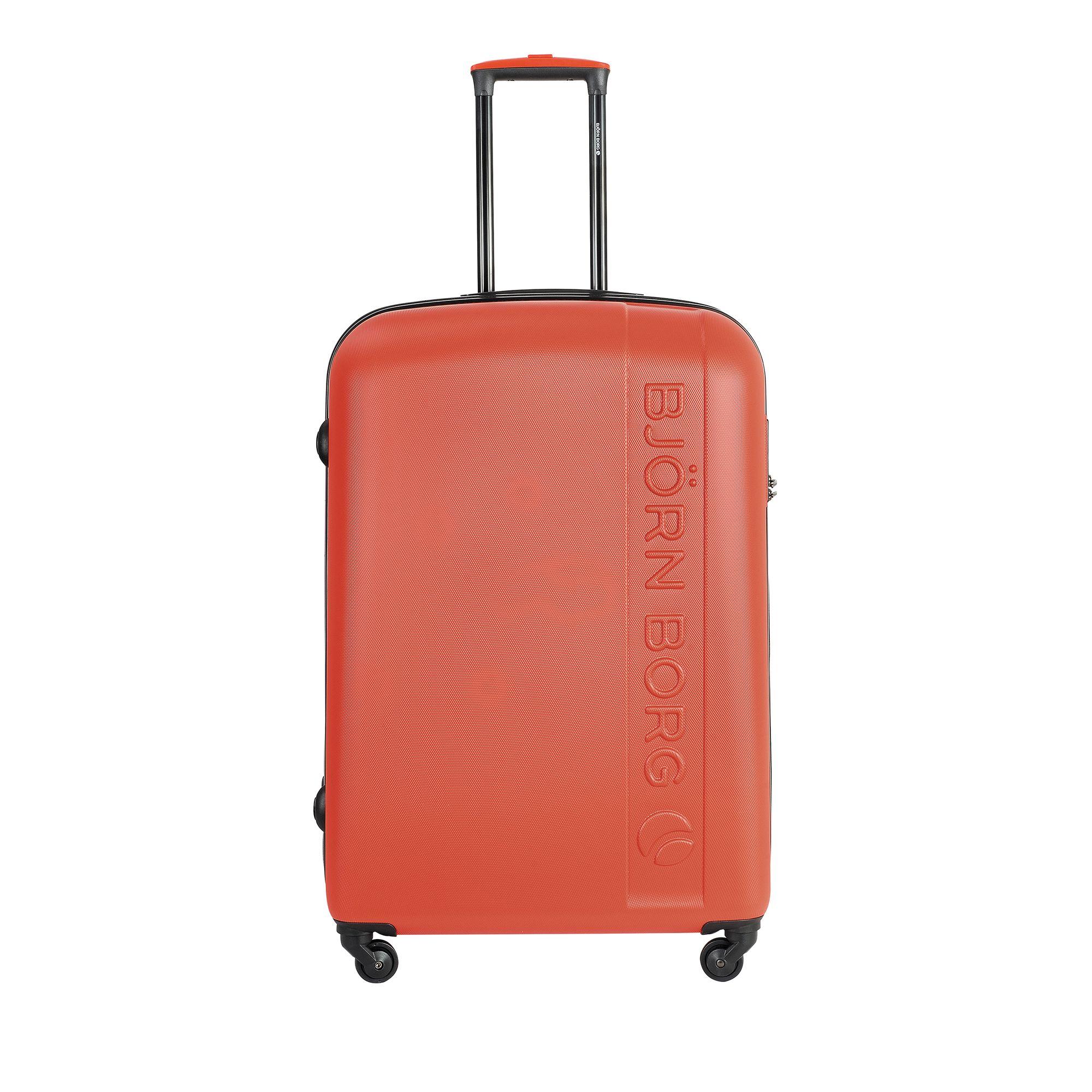 Björn Borg Hot Solid resväska, 4 hjul, 55/65/78 cm, Orange, 78cm