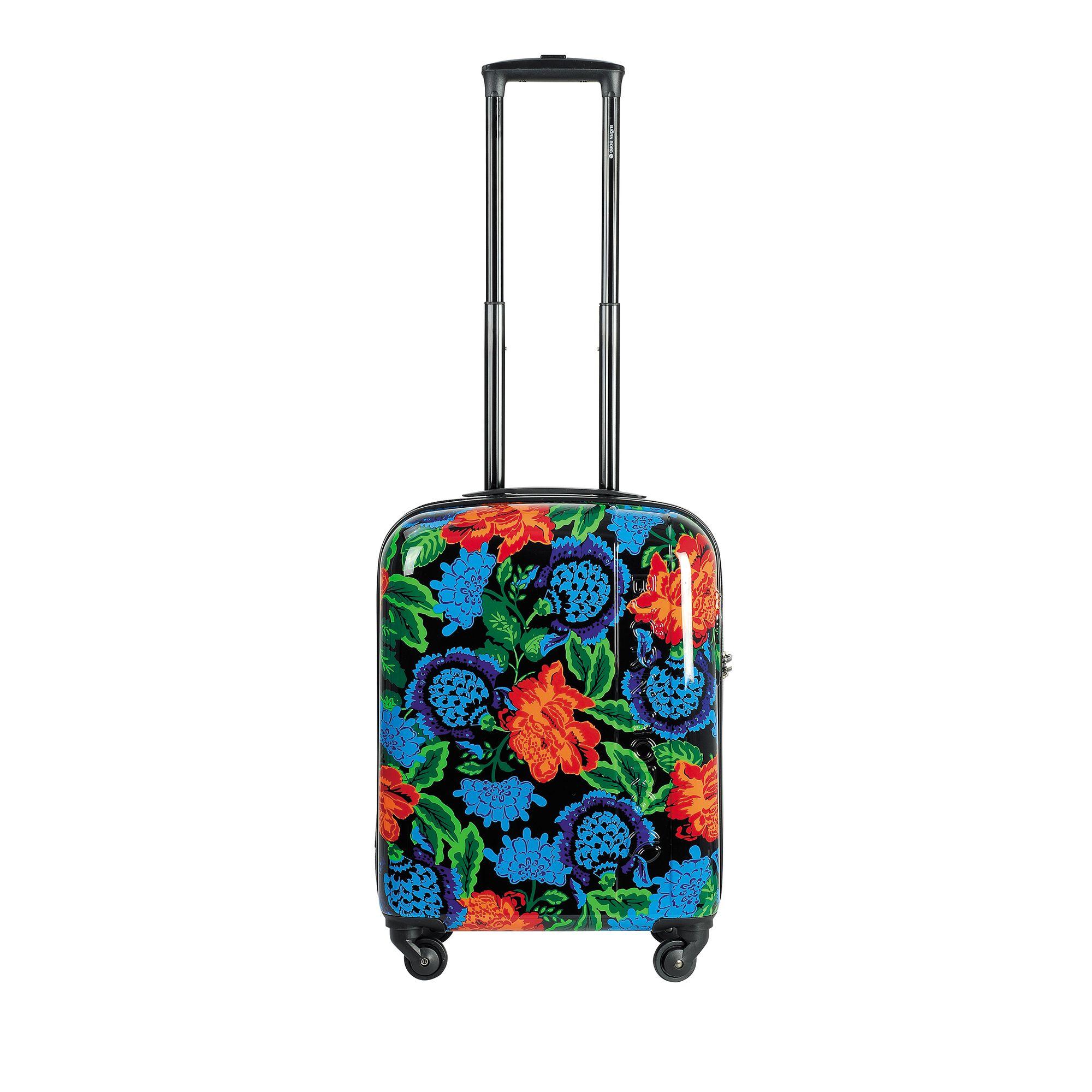 Björn Borg Hot Solid resväska, 4 hjul, 55/65/78 cm, Svart med mönster, 55cm
