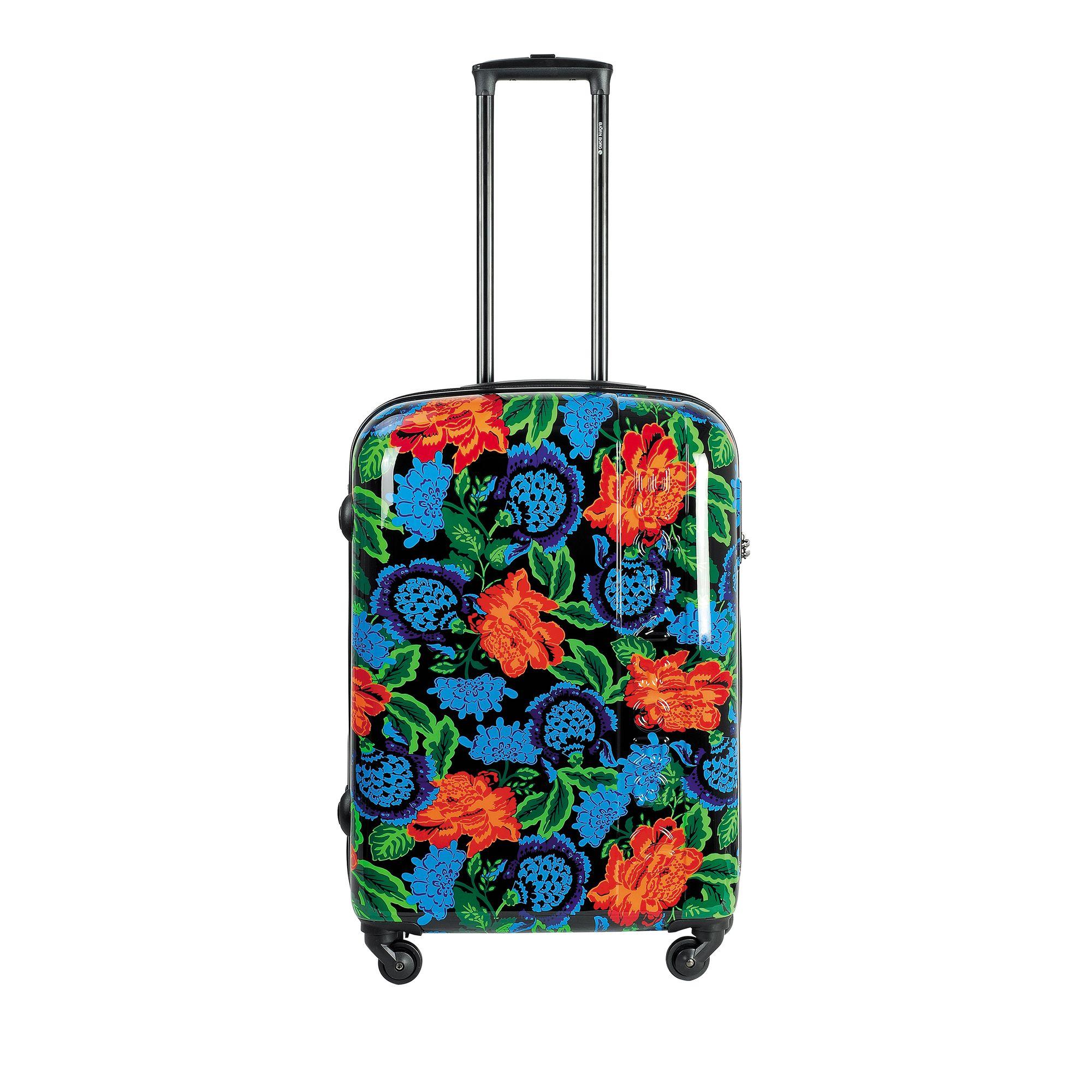 Björn Borg Hot Solid resväska, 4 hjul, 55/65/78 cm, Svart med mönster, 67cm