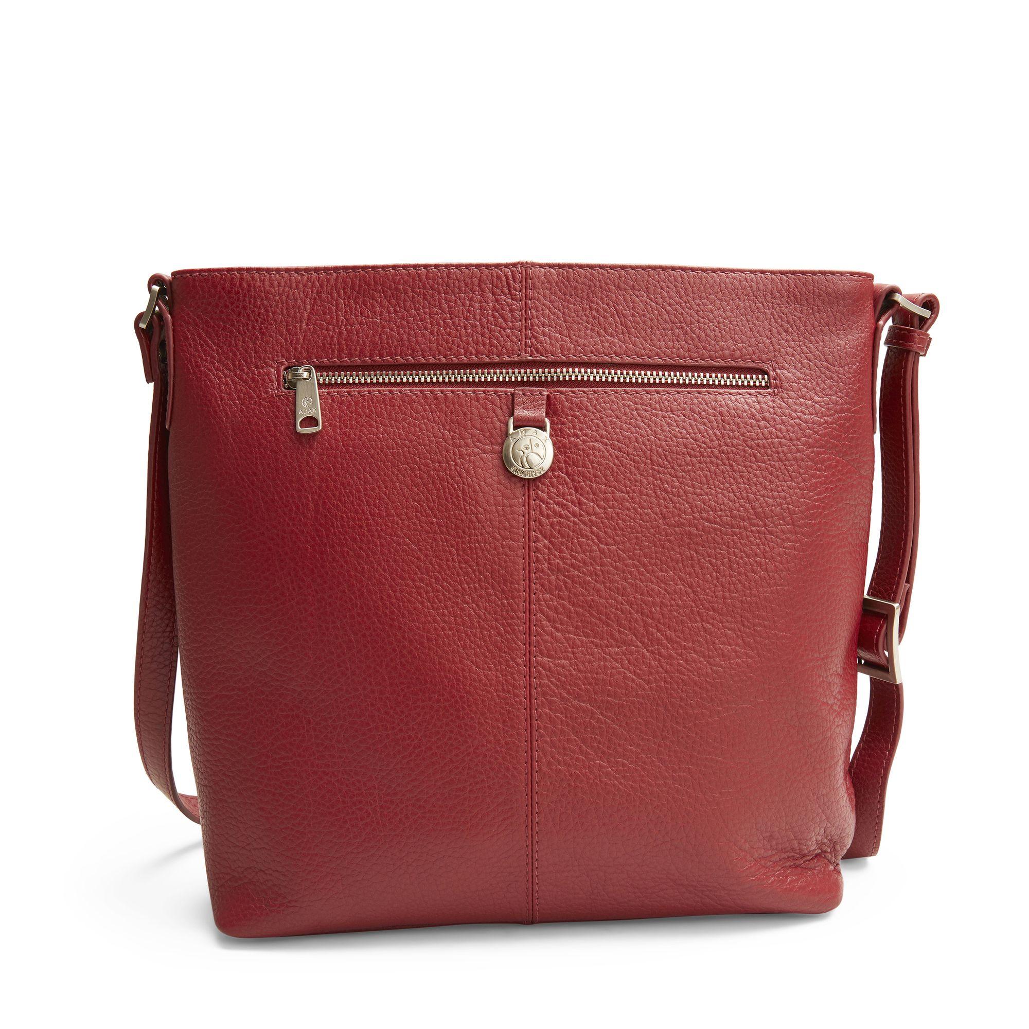 Adax Kicki Shoulderbag handväska i skinn, Röd