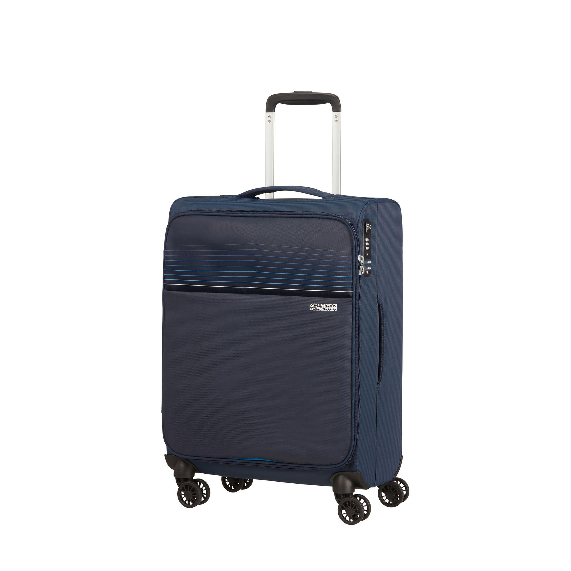 American Tourister Lite Ray kabinväska med 4 hjul, 55 cm, Mörkblå